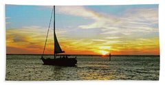 Evening Sailing Beach Sheet