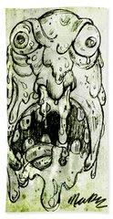 Evil Snot Monster Beach Towel