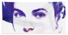 Face Of Beauty Beach Towel