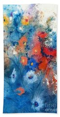 Faerie Flowers Beach Towel