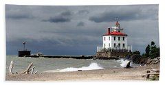 Fairport Harbor Beach Beach Towel