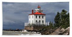 Fairport Harbor West Breakwater Lighthouse Beach Towel