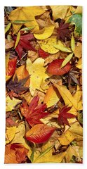 Fall  Autumn Leaves Beach Towel