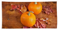 Fall Decorative Pumpkins Beach Towel