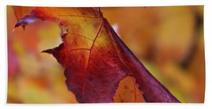Fall Leaf Beach Towel