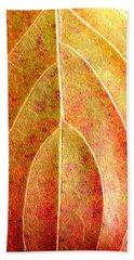 Fall Leaf Upclose Beach Towel