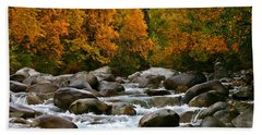 Fall On The Little Susitna River Beach Towel