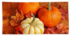 Fall Pumpkins And Decorative Squash Beach Towel