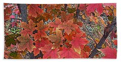 Fall Red Beach Towel