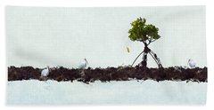Falling Mangrove Leaf Beach Towel by Dan Friend