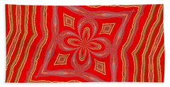 Favorite Red Pillow Beach Towel by Alec Drake