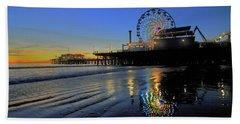 Ferris Wheel Sunset Beach Towel
