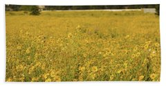 Field Of Yellow Daisy's Beach Towel