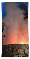 Fiery Entrance Beach Towel by Bonnie Myszka