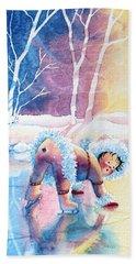 Figure Skater 12 Beach Towel