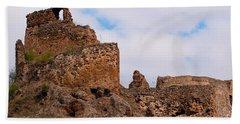 Beach Sheet featuring the photograph Filakovo Hrad - Castle by Les Palenik