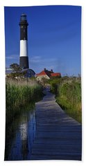 Fire Island Reflection Beach Towel
