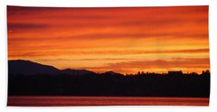 Fire Sky Beach Towel
