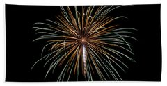 Beach Towel featuring the photograph Fireworks 10 by Mark Dodd