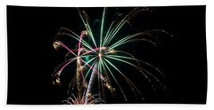 Beach Towel featuring the photograph Fireworks 11 by Mark Dodd