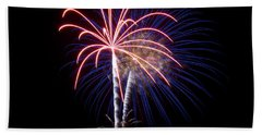 Beach Towel featuring the photograph Fireworks 12 by Mark Dodd