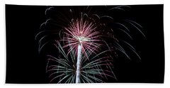 Beach Towel featuring the photograph Fireworks 13 by Mark Dodd