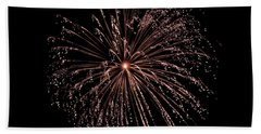 Beach Towel featuring the photograph Fireworks 3 by Mark Dodd