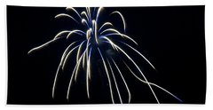 Beach Towel featuring the photograph Fireworks 4 by Mark Dodd