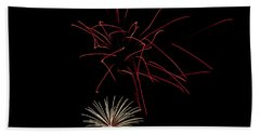 Beach Towel featuring the photograph Fireworks 6 by Mark Dodd
