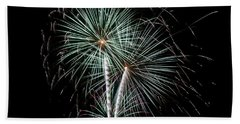 Beach Towel featuring the photograph Fireworks 8 by Mark Dodd