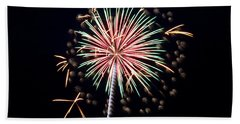 Beach Towel featuring the photograph Fireworks 9 by Mark Dodd