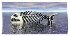 Beach Sheet featuring the digital art Fish Bones by Phil Perkins