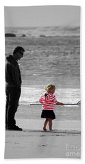 Beach Towel featuring the photograph Fish With Me Daddy by Terri Waters