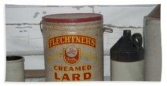 Flechtners Creamed Lard Beach Towel