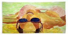 Floating In Water Beach Towel by Brian Wallace