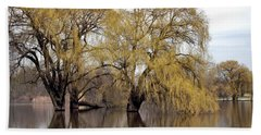 Flooded Trees Beach Towel