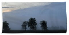 Foggy Pennsylvania Treeline Beach Towel