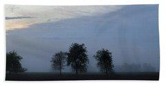 Foggy Pennsylvania Treeline Beach Sheet