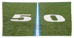 Football Field Fifty Beach Towel