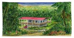 Foothills Of El Yunque Puerto Rico Beach Sheet by Frank Hunter