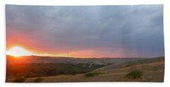 Foothills Sunset Beach Towel by Stuart Turnbull