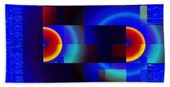 Beach Sheet featuring the digital art fractal Mondrian by Mario Carini