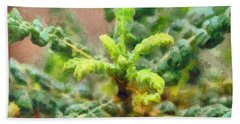Frankincense Tree Leaves Beach Towel