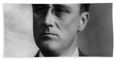Beach Sheet featuring the photograph Franklin Delano Roosevelt by International  Images