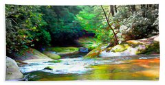 French Broad River Filtered Beach Towel