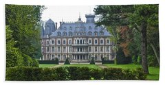 French Country Mansion Beach Towel