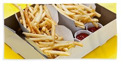 French Fries In Box Beach Towel