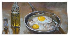 Fried Eggs Beach Towel