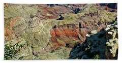Beach Towel featuring the painting From Yaki Point 6 Grand Canyon by Bob and Nadine Johnston