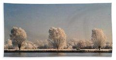 Frozen Lake Beach Towel by Lyn Randle